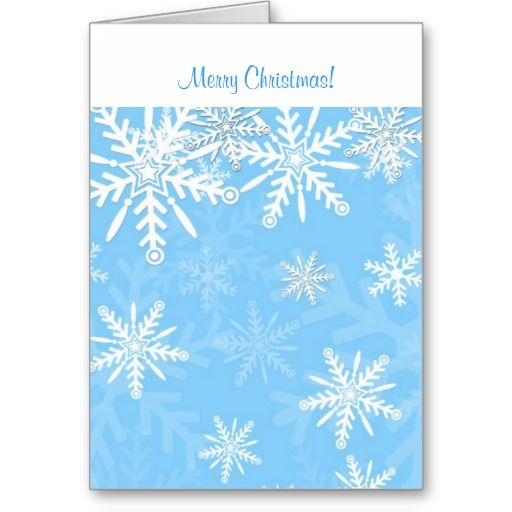 Beautiful personalised Christmas card with snow