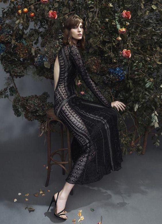 Black Roberto Cavalli dress SS14
