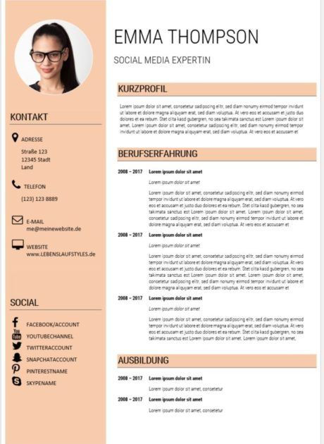 Moderner Lebenslauf Muster Social Media Experte Lebenslauf Muster Moderner Lebenslauf Lebenslauf