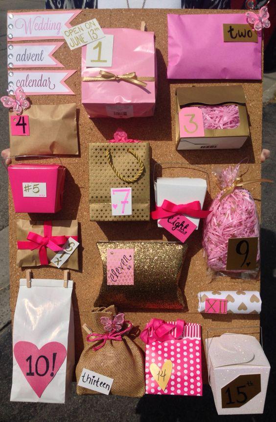 Wedding Advent Calendar Diy Best Friend Wedding Gifts Wedding Gifts For Friends Advent Calendar Gifts