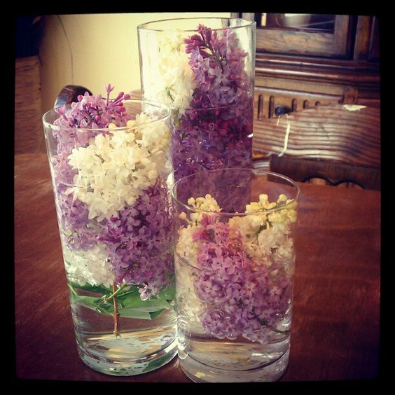 I love lilacs and as i was gathering some up ... this came to mind! :) very easy to do .. looks great & makes your house smell amazing!