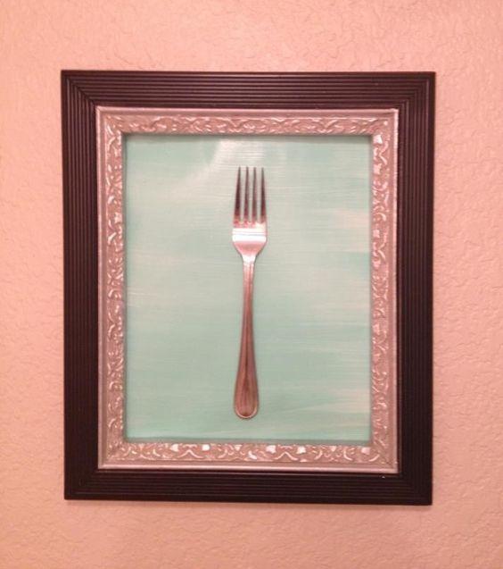 Framed Dinglehopper for my little mermaid bathroom!