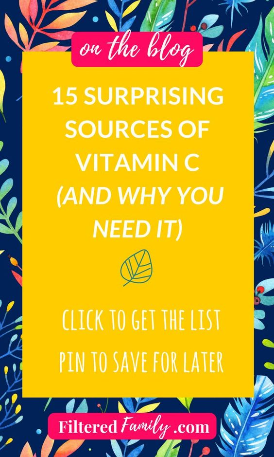 You need to get vitamin C every single day for optimal health *and for gorgeous skin). The best way to get vitamin C is through foods. For everything from looking younger to staying healthy vitamin C has you covered. -- 15 Surprising Sources of Vitamin C | via FilteredFamily.com