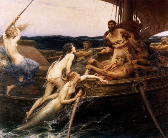 """Ulysses and the Sirens"" by Herbert James Draper (1909)"