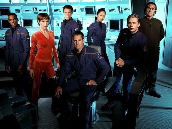 Star Trek Deep Space Nine crew/ cast | STAR TREK: ENTERPRISE The Complete First Season Beams Down to Blu-ray!