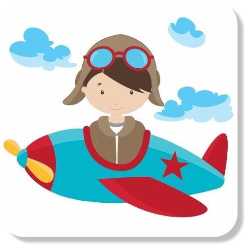 Adesivos Parede Infantil Aviador Aviao Nuvens Frete Gratis R