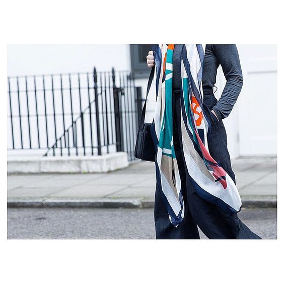 The unique, striking Coco scarf has a bold, abstract composition that's full of colour. Designed to brighten up your own days, accessorise any way you like.