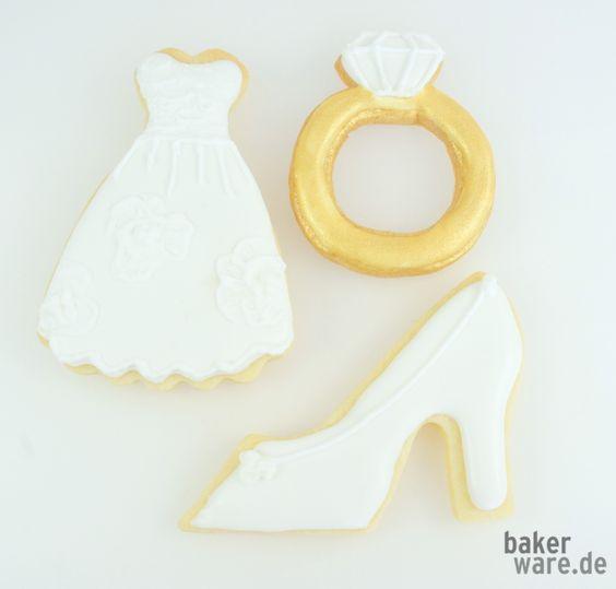 Romantische Kekse zur Hochzeit....tolle Ideen für ein Gastgeschenk.