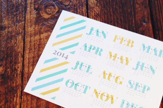 10 modelos de calendarios de 1 hoja para 2014 / 10 different printable 2014 calendars 1 sheet