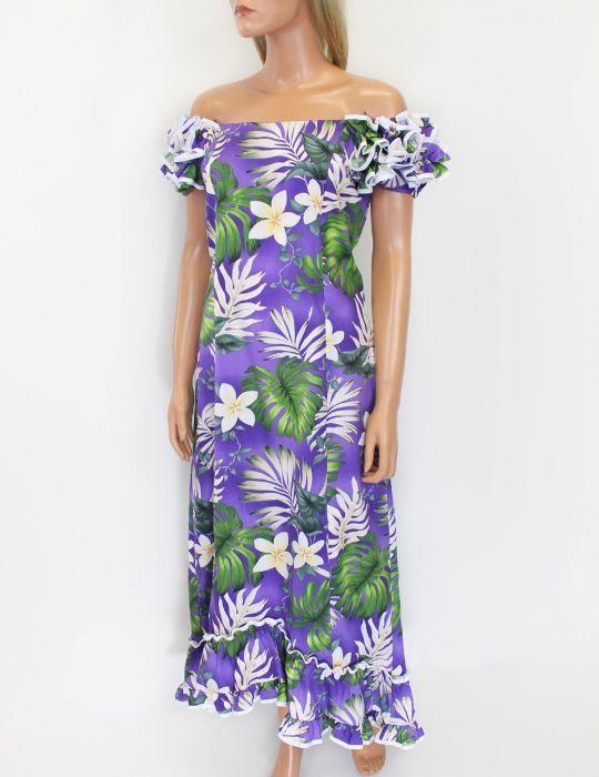 Purple Palolo Valle Island Long Muumuu Dress