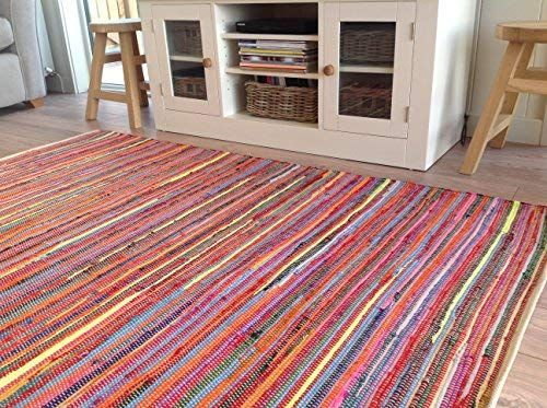 Multi Coloured Chindi Rag Rug
