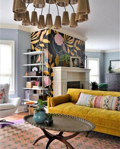 Timothy Sumer - Photography Colorful LIving room designed by Home Ec in Oak Park Illinois...