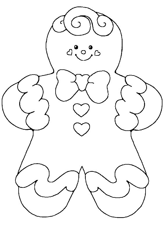 Gingerbread Cute Baby Girl Coloring Pages | Christmas ...