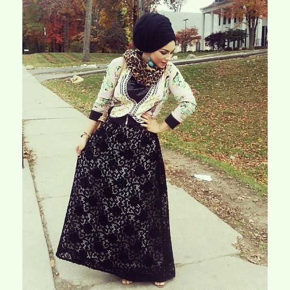 Fall ready. Fab skirt from @emanfathydesigns, barely visible but equally awesome bracelets from @monamourcollection. Check them out. #fall #lace #ootd #drama #turbanation #thehijablog