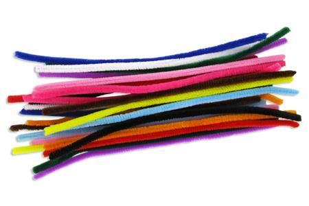 Set de chenilles, couleurs vives assorties: