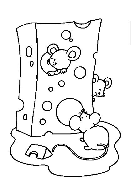 kleurplaat muisjes thema piep een muis