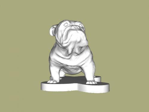 English Bulldog Free 3d Model Download Obj File English