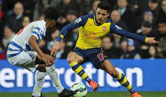 Alexis Sánchez dribbling against QPR