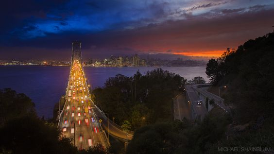 Sunset And Night In San Francisco