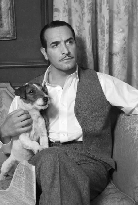 Uggie the Dog and Jean Dujardin from the Artist