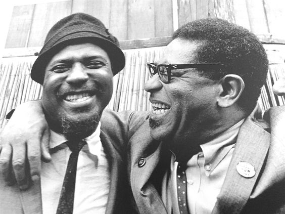 Monk & Dizzy at the Newport Jazz Festival early 1960s // photo by Jim Marshall