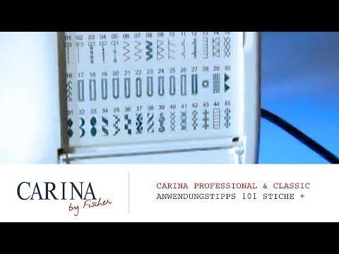 Carina Professional 101 Stiche Carina Spezial Youtube Carina Nahmaschine Stiche Carina