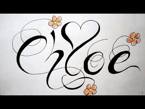 Name Tattoos Drawing Fancy Script Design With Heart And Flowers Youtube In 2020 Name Tattoos Heart Tattoos With Names Fancy Script