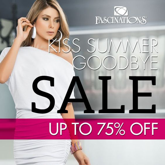 We're gearing up for fall but before you kiss summer goodbye, stop by any Fascinations, NV Boutique or MayBee location for deep discounts on summer apparel while supplies last! Find a location: http://www.yourfascinations.com/locations/ #summersale #summerapparel