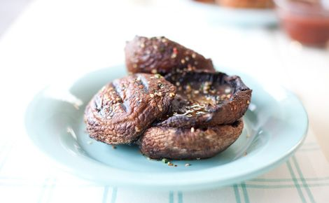 Side:  Epicure's Grilled Teriyaki Mushrooms (130 calories/serving)