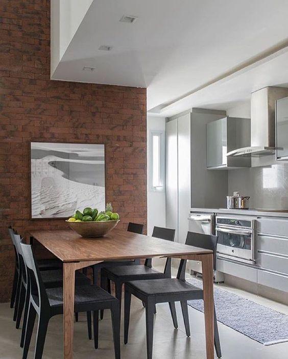 """""""Cozinha integrada, adoramos!!! Projeto @__ahsim__ #kitchen #cozy #cocina #cozinha #dinningroom #apartamento #decoração #decor #homedecor #luxurydecor…"""""""