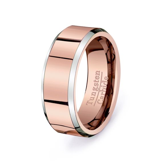 Gold Tungsten Rings Men Wedding Bands I Want Band Rose Gold Etsy Rings