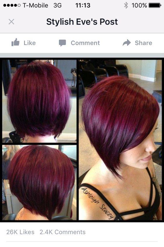 Aubergine Hair | Coiffure | Pinterest | Coupes Au Carru00e9 Cheveux Mignons Et Coupu00e9