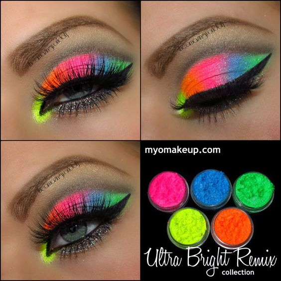 Neon Ya know for all those nights at the club ;) DIY Makeup Ideas