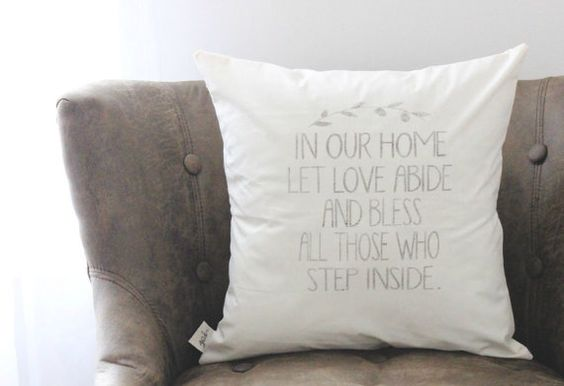 Let Love Abide 16 x 16 Pillow Cover, love, wedding gift, couple, engagement gift, newlywed gift, housewarming, throw, cushion cover