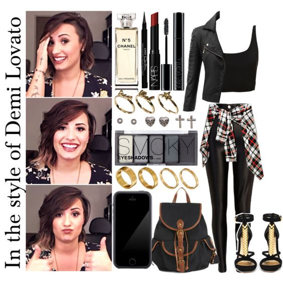 """In the style of Demi Lovato. ♥"" by x-xxmel on Polyvore"