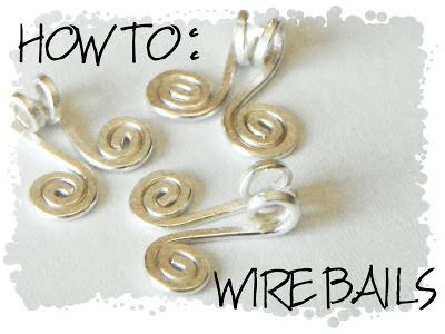 Wire Bails to attach to jewels while making jewelry and such