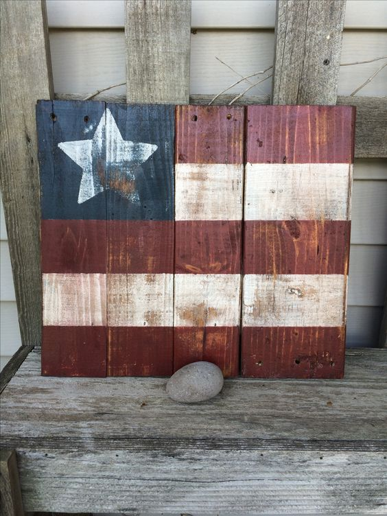 Made this flag sign out of old pallet wood painted it for What to make out of those old wood pallets
