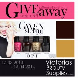 GWEN STEFANI FOR OPI giveaway ^_^ http://www.pintalabios.info/en/fashion_giveaways/view/en/1699 #International #MakeUp #bbloggers #Giveaway