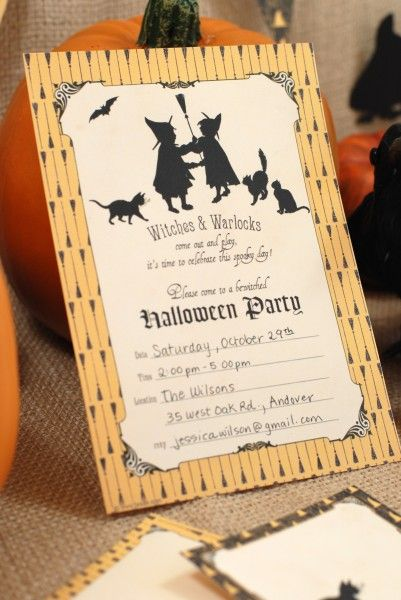 free halloween party printables invitation