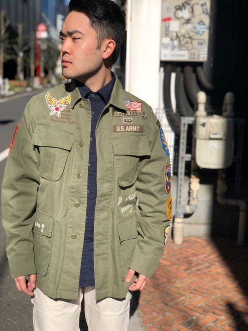 イワオ avirex 新宿 avirexのミリタリージャケットを使ったコーディネート wear ミリタリージャケット ジャケット ファッション
