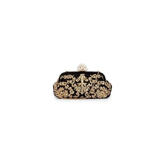 Dolce Gabbana Dea small embellished lace clutch ❤ liked on Polyvore featuring bags, handbags, clutches, brown handbags, embellished purses, lace purse, brown purse and colorful clutches