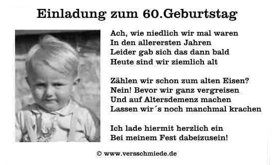 Einladung 60 Geburtstag Spruch Lustig Einladung60