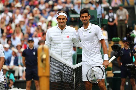 Wimbledon 2019  Individual masculino (4h 57') Novak Djokovic venció Roger Federer por 7-6(7-5), 1-6, 7-6(7-4), 4-6, 13-12(7-3)
