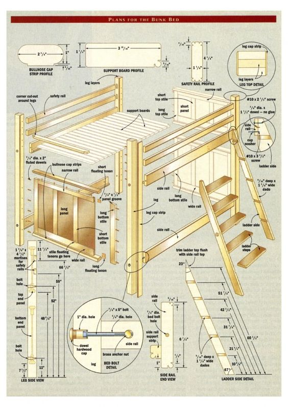 Bunk Bed With Stairs Plans Free Project Bunk Bed