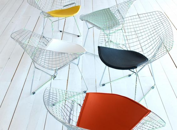 Bertoia Sessel chrom