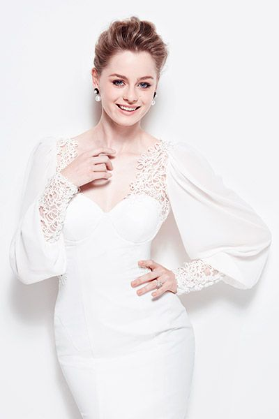 2014 GOWN GUIDE, SLEEVES: Bride by Francesca gown
