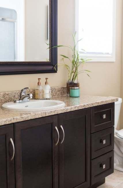 Bathroom Vanity Dark Brown Floors 43, Painting Bathroom Cabinets Dark Brown