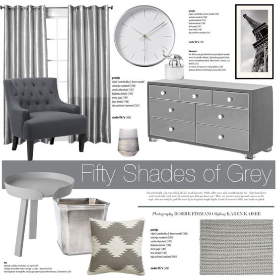 Fifty Shades of Grey by dian-lado on Polyvore featuring interior, interiors, interior design, thuis, home decor, interior decorating, Muuto, CB2, Match and Lene Bjerre