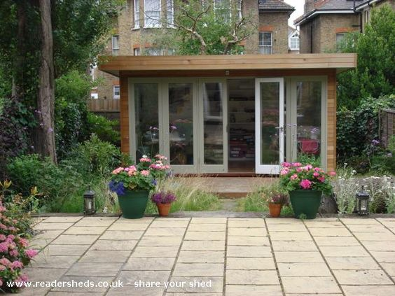 Judith 39 s garden office garden office shed from my garden for Garden office and shed