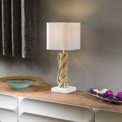 Stunning Unique Modern Driftwood table lamp light white